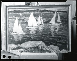 Sailboats [painting] / (photographed by Peter A. Juley & Son)