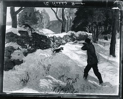 Rabbit Hunting [painting] / (photographed by Peter A. Juley & Son)