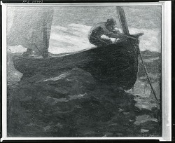 Pulling Up Anchor [painting] / (photographed by Peter A. Juley & Son)