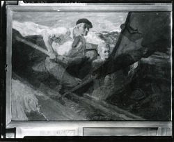 Crossing the Bar [painting] / (photographed by Peter A. Juley & Son)
