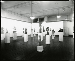 Installation view of John Hovannes Memorial Exhibition at Art Students League, 1973 [photograph] / (photographed by Peter A. Juley & Son)