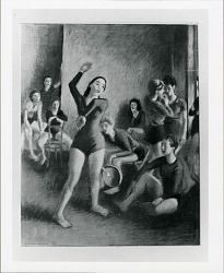 Modern Dance Group [painting] / (photographed by Peter A. Juley & Son)