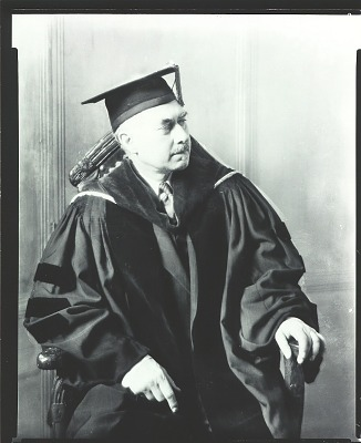 Jonas Lie in academic gown [photograph] / (photographed by Peter A. Juley & Son)