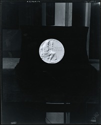 American Academy of Arts and Letters - Medal For Good Diction on the Radio (reverse) [sculpture] / (photographed by Peter A. Juley & Son)