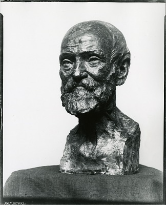 Study of an Old Man [scupture] / (photographed by Peter A. Juley & Son)