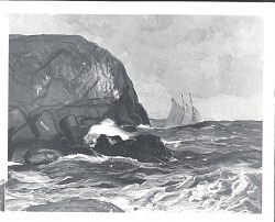 Beating Out to Sea [painting] / (photographed by Peter A. Juley & Son)