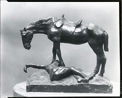 Horse and Fallen Rider [sculpture] / (photographed by Peter A. Juley & Son)