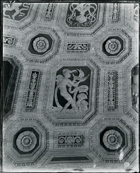 Ceiling detail from the Cunard Building mural [art work] / (photographed by Peter A. Juley & Son)
