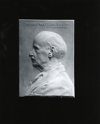 Henry Watson Kent [sculpture] / (photographed by Peter A. Juley & Son)