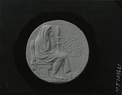 American Academy of Arts and Letters - For Good Diction on the Radio (reverse) [sculpture] / (photographed by Peter A. Juley & Son)