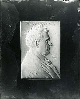 Julian Alden Weir [sculpture] / (photographed by Peter A. Juley & Son)