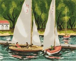 Two Sails, [photomechanical print]