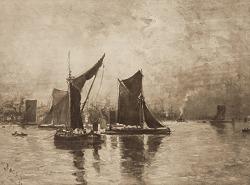 On the Thames, [photomechanical print]
