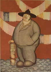 Caricature of Diego Rivera, [photomechanical print]