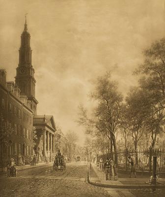 St. John's Park and Chapel [photomechanical print]