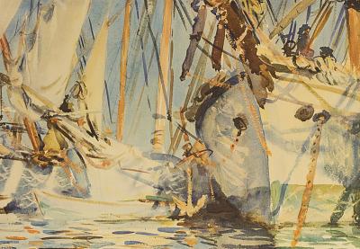 The White Ships [photomechanical print]