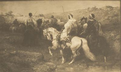 Arabs on the March [photomechanical print]