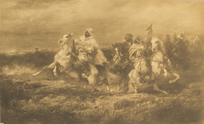 Battle Scene - Arabs Making a Detour [photomechanical print]
