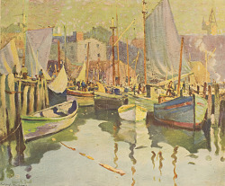 Boats in a Harbor [photomechanical print]