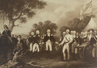 Surrender of General Burgoyne [photomechanical print]