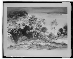 Mountain Landscape with Trees [art work] / (photographed by Walter Rosenblum)