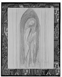 No Title Given: Figure in an Archway [drawing] / (photographed by Walter Rosenblum)