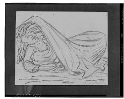 No Title Given: Reclining Figure [drawing] / (photographed by Walter Rosenblum)