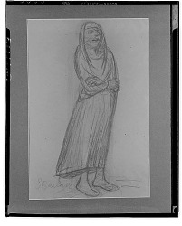 No Title Given: Figure with Arms Crossed [drawing] / (photographed by Walter Rosenblum)