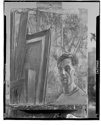 Self-Portrait [painting] / (photographed by Walter Rosenblum)