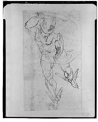 Perseus, [drawing] / (photographed by Walter Rosenblum)