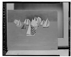 Sailboats [painting] / (photographed by Walter Rosenblum)