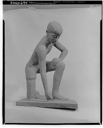 Crouching Figure [sculpture] / (photographed by Walter Rosenblum)