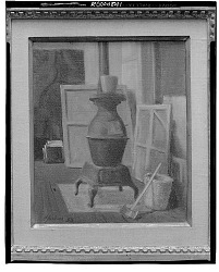 wood Stove and Axe [painting] / (photographed by Walter Rosenblum)