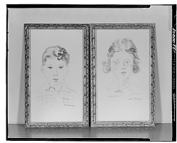 Two Portraits [painting] / (photographed by Walter Rosenblum)