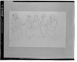 No Title Given: Figure Group [drawing] / (photographed by Walter Rosenblum)