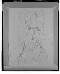 Bust of a Woman [drawing] / (photographed by Walter Rosenblum)