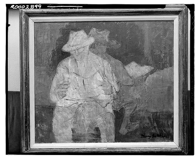 Two Men [painting] / (photographed by Walter Rosenblum)