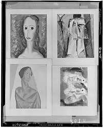 Group of Four Paintings [painting] / (photographed by Walter Rosenblum)