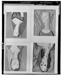 Group of Four Portrait Paintings [painting] / (photographed by Walter Rosenblum)