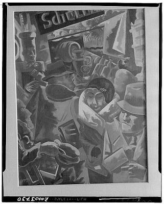 Berlin Street [painting] / (photographed by Walter Rosenblum)