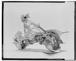 No Title Given: Motorcycle [sculpture] / (photographed by Walter Rosenblum)