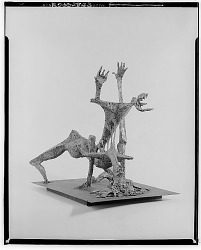 No Title Given: Wire Figure [sculpture] / (photographed by Walter Rosenblum)