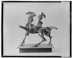 No Title Given: Figure on Horseback [sculpture] / (photographed by Walter Rosenblum)