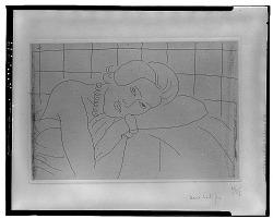 Figure, Tête reposant sur le Bras gauche [graphic arts] / (photographed by Walter Rosenblum)