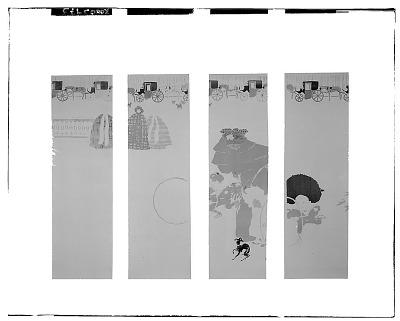 Promenade des Nourrices, Frise des Fiacres [graphic arts] / (photographed by Walter Rosenblum)