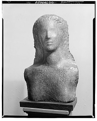 No Title Given: Female Bust [sculpture] / (photographed by Walter Rosenblum)