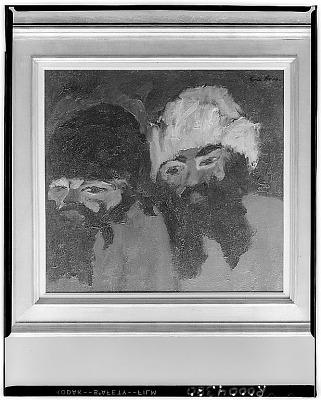 Zwei Russen [painting] / (photographed by Walter Rosenblum)