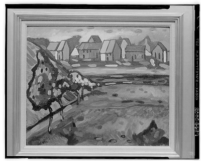 Bayerisches Dorf Mit Feld [painting] / (photographed by Walter Rosenblum)
