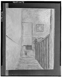 No Title Given: View from the top of the Stairs [art work] / (photographed by Walter Rosenblum)