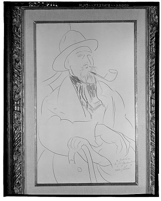 Charles Guérin [drawing] / (photographed by Walter Rosenblum)